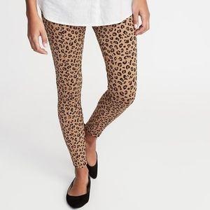 Leopard Print Ponte Knit Stevie Legging High Rise